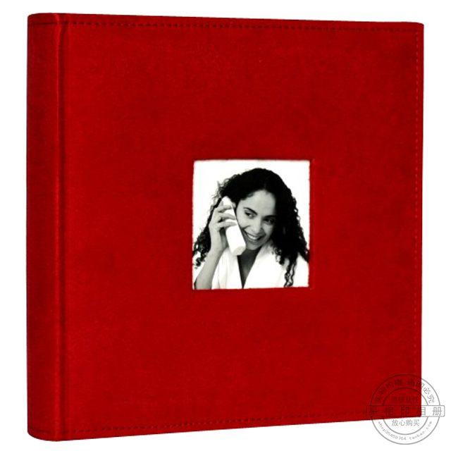 free shipping Photo album quality suede fabric transpierce big 6 4d 200 pocket photo album -