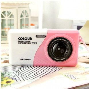 Korea stationery camera style correction tape personalized fashion primary school students prizes