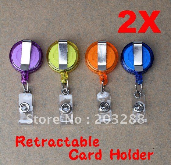 2x Mini Anti-Lost Alarm Buckle Strap Safety Security Colours Retractable Cable A