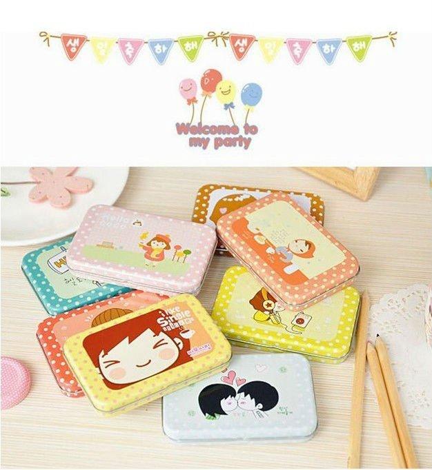 40set (12pcs/set),Korea Style Single Sticker cute Carton Sticker ,(with tin case package) many designs mix order,dropshipping