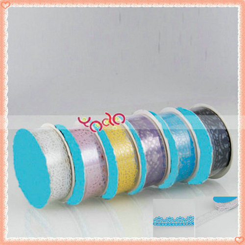 Free Shipping!Bud Silk Stationery Stickers,Stationery Gift Sticker Tape DIY Decorative Small 6 Color 200pcs/lot 22001595-60