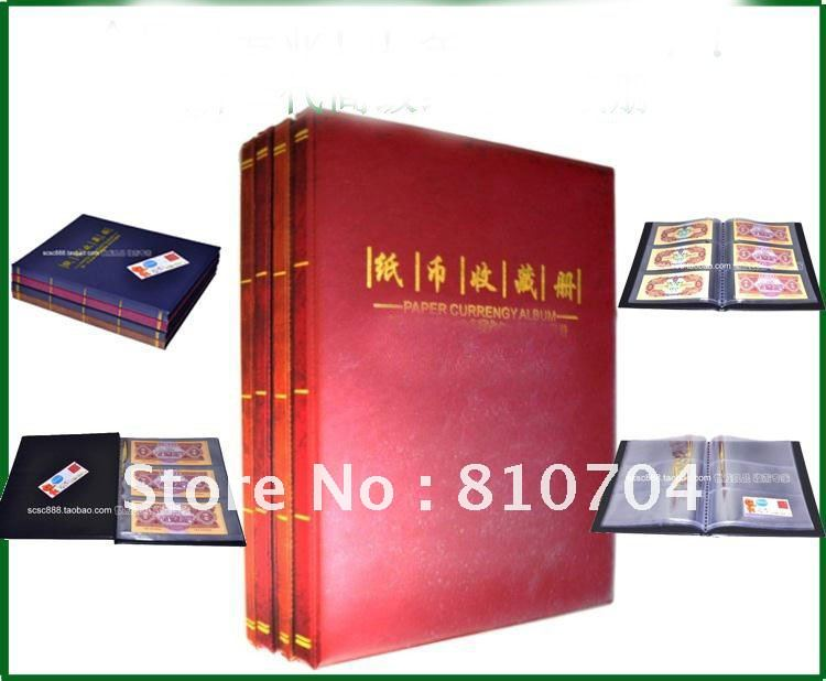 notes curreny album paper money album volume collection book paper money holder wholesale/retail