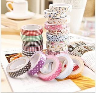Th South Korea stationery and lovely and pure and fresh quietly elegant cloth art adornment tape