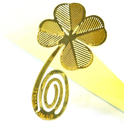 Gold-plated lovely bookmarks - Clover