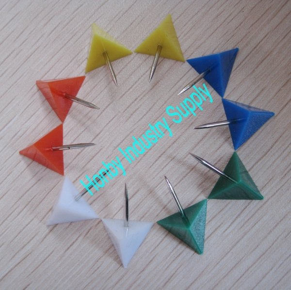 DHL/TNT Free Shipping! Solid Triangle Shaped Colored Push pin