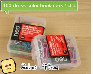 Korea creative gifts / 100 dress color bookmark / clip