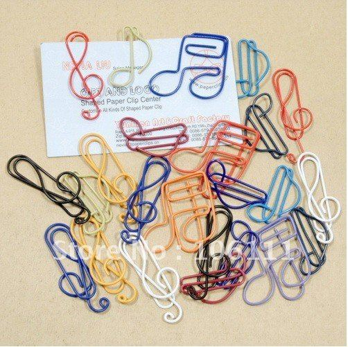 Free Shipping/  Free shipping Cute  paperclips without box /paperclips binder clip/ office clip musical note paperclip bookmarks