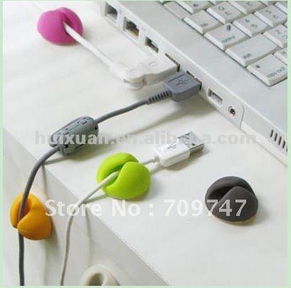 Desktop plastic Cable Drop, Cable Clip