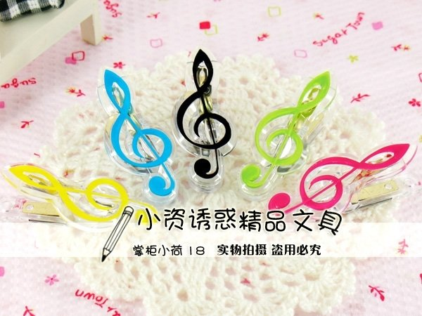 Musical Notes Magnet Clip G-Clef / Eighth Note / Piano Paper Memo Binder Clamp Fridge Magnet--Creative Toy