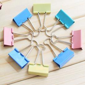 Supplies folder multicolour liras purse binder clips Small 8009