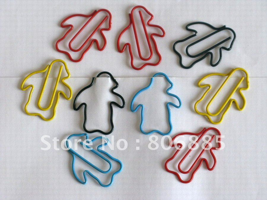 Guarantee 100% Genuine stationery,1.2mm dia.,vinyl wrapped,wire Penguin paper clips+Free custom shapes(USA DIRECT DELIVERY)