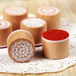 circle wool vintage decorative pattern stamp lace series 6 free shipping