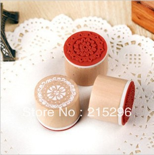 Promotion saleing!wholesale South Korea cylinder wooden stamps,free shipping,6pcs cute creative DIY funny work pad,ancient style