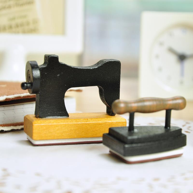 Korea stationery zakka vintage nostalgia old fashioned classic iron sewing machine stamp