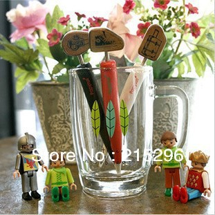 free shipping!2012 wholesale personality stamp shape ball-pen,DIY funny work wooden stamp pens,3 cute creative styles for choice