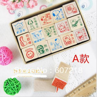 Woodiness teacher seal cartoon comment seal encourage seal 15 pieces of South Korea stationery 150 g