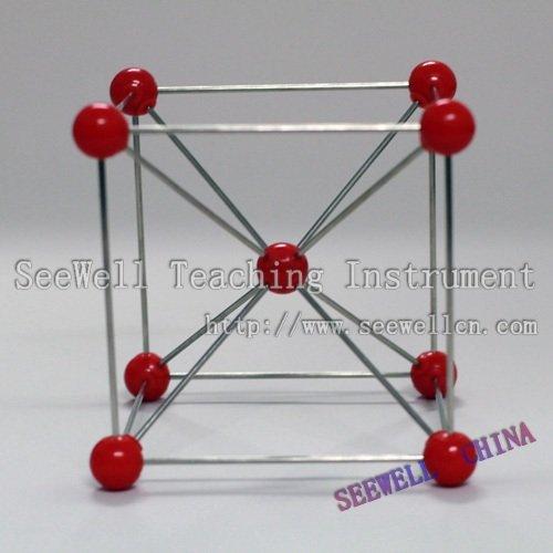 Metallic Crystal Model Fe - Ferrum - Molecular model set