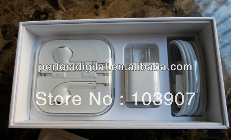 20pcs/lot Mobile phone Packing box for iphone 5 with full accessories free shipping