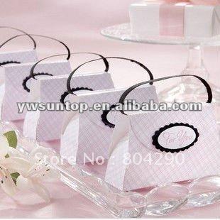 Elegant pink purse wedding candy box