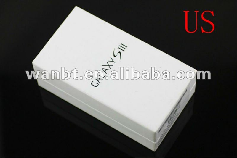mobile phone Packing box For Samsung Galaxy S3 i9300 box US version with Accessories free shipping DHL 10pcs/lot