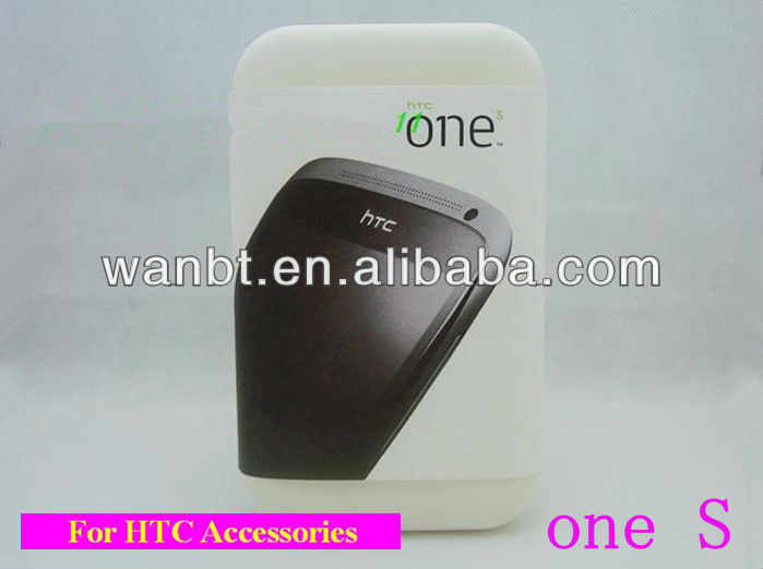 Best price Paper Packing box For HTC one S with full Accessories Free shipping 20pcs/lot