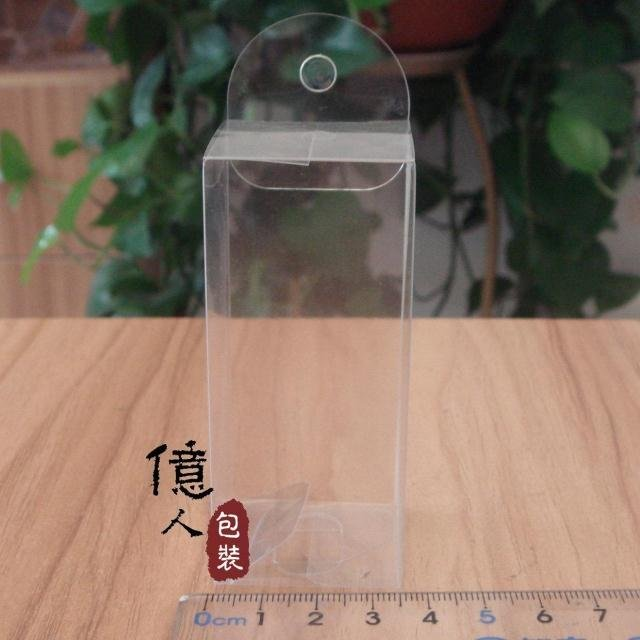 Factory direct spot plastic hanging box / transparent box / display box / phone box / 3.4*3.4*7.8CM  with hook LOGO