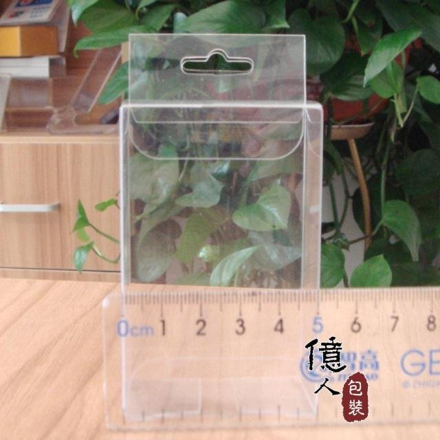 Factory direct spot plastic hanging box / transparent box / display box / phone box / 5*3*8CM  with hook LOGO