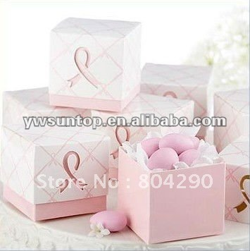 Sample style pink candy box wedding candy box