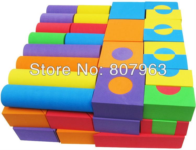 2012 retails,soft blocks for children,foam blocks for kids,christmas gift for children,100 pcs freeshipping ,eva