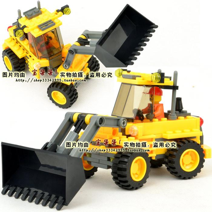 Super deal Free Shipping Legoland insert blocks assembling toys series 8042 angledozer 0.25