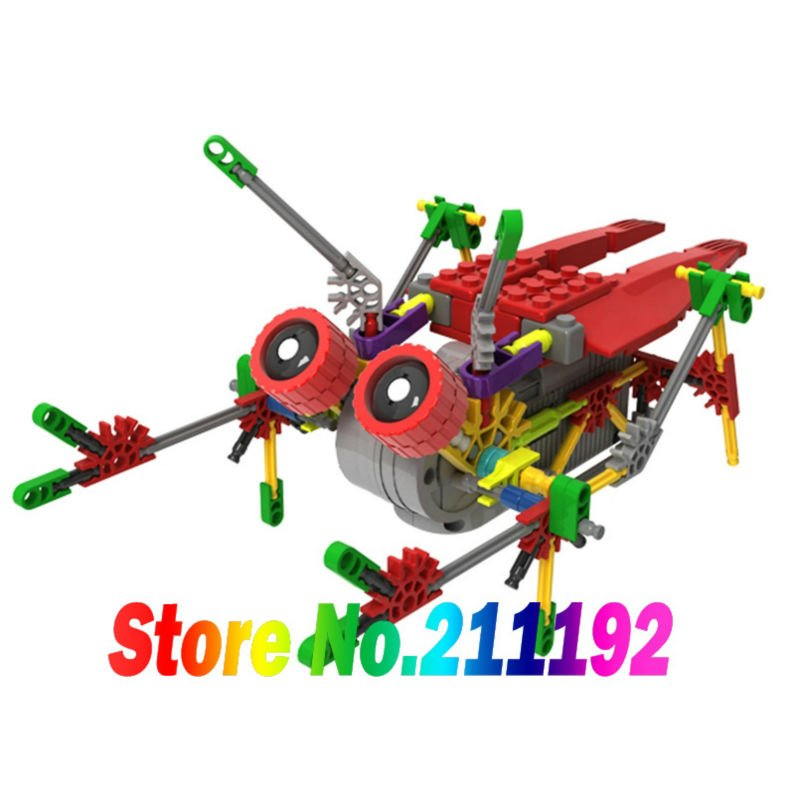 The children's educational blocks toys LOZ  plastic  electric block mechanical robot building blocks sets