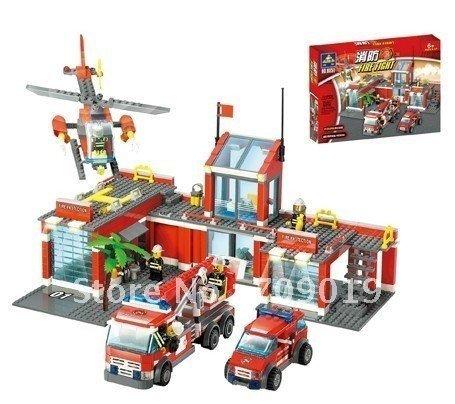 Christmas/new year Enlighten Child 8051 DIY Educational firefighter Car 774pcs KAZI Assembles Particles Block Toys free Shipping