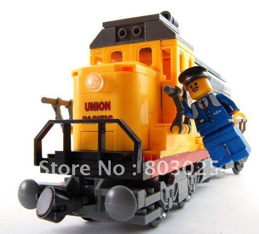 Enlighten 282pcs/set DIY Educational train series heave duty freight locomotive Block Toy Set,free shipping