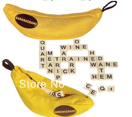 BANANAGRAMS WORD GAME EDUCATIONAL ANAGRAMS TRAVEL GRID CROSSWORD KIDS FAMILY TOY