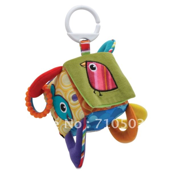 free shipping Lamaze toys quadripartite bell building blocks teethers response paper - bed hanging baby toy