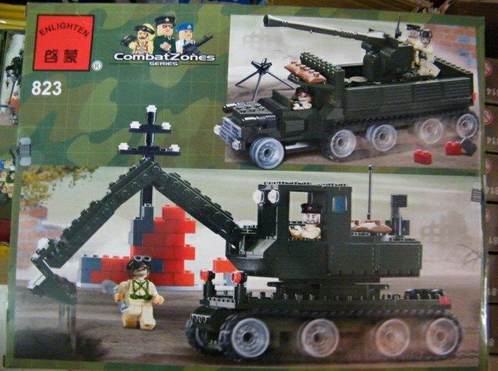 Enlighten 466pcs/set DIY Educational combat zones series tanks  Block Toy Set,free shipping