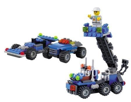 holiday sale Enlighten Child 6409 diy toy Educational Dumper Truck 163PCS KAZI building block sets,children toys free Shipping
