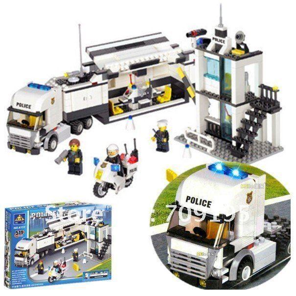 Holiday Sales Enlighten Child 6727 DIY Educational Police Truck 511pcs KAZI building block sets,children the toys free Shipping