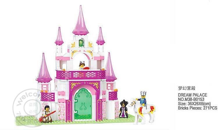Christmas gift Enlighten Child 0153 educational toys Dream Palace SLUBAN building block sets,children toys for kid free Shipping