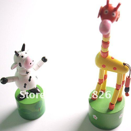 Wooden educational toys cartoon animals station barrel Free Shipping 2067