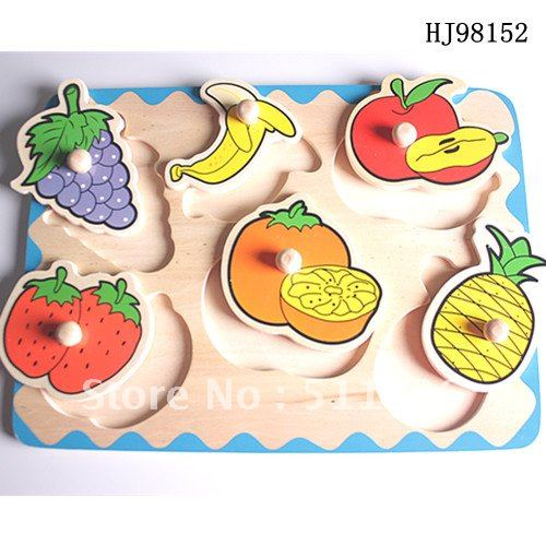 Vivid funny colorful wooden fruit/geometric figure jigsaw puzzle Free shipping  2019