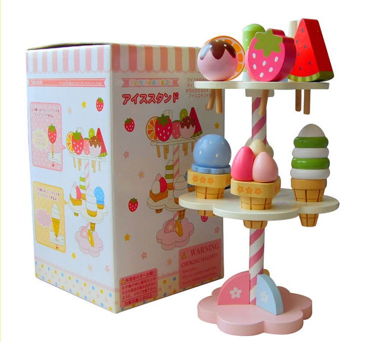 christmas tree Strawberry series of ice cream  wooden toys educational toys FREE SHIPPING