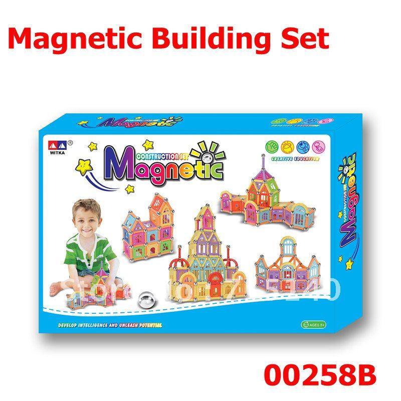 Intellectual Magnetix construction set 258pcs magnetic bar 00258A/B Free shipping