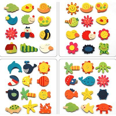 wholesale-Baby Children's Early Learning creative gifts educational toys /magnetic stickers /Safe wooden fridge magnets  z2