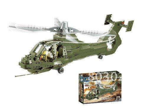 KAZI 431pcs/set DIY educational children field army blocks toy set ,free shipping