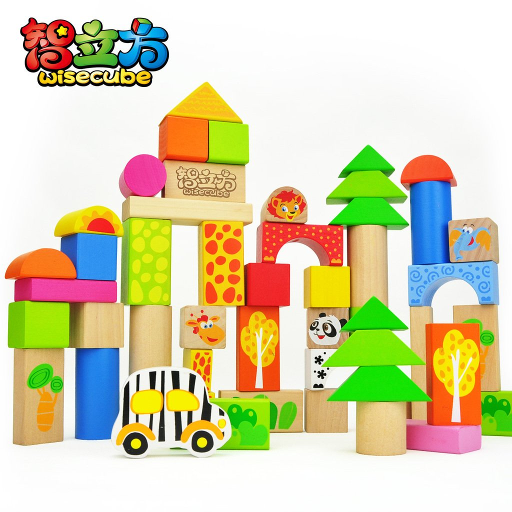 50 tubs large wooden blocks educational toy building blocks wool blocks