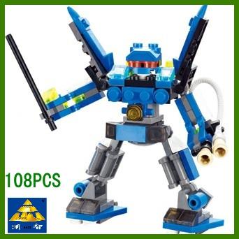 10pcs/lot Child educational building blocks.assembling toys for kids/children Martian deformation robot series mdash giant