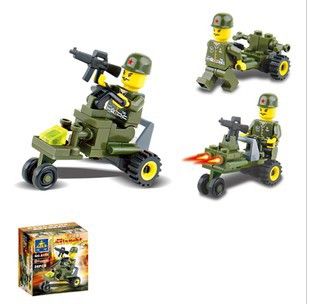 NEW YEAR  Sales Enlighten blocks No. XYL062K Educational building block sets child toys military car  free Shipping