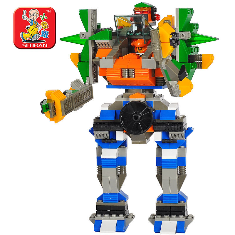 Electronically controlled toys Small luban blocks small luban 3 1 robot small luban assembling toys Chinese brand toys