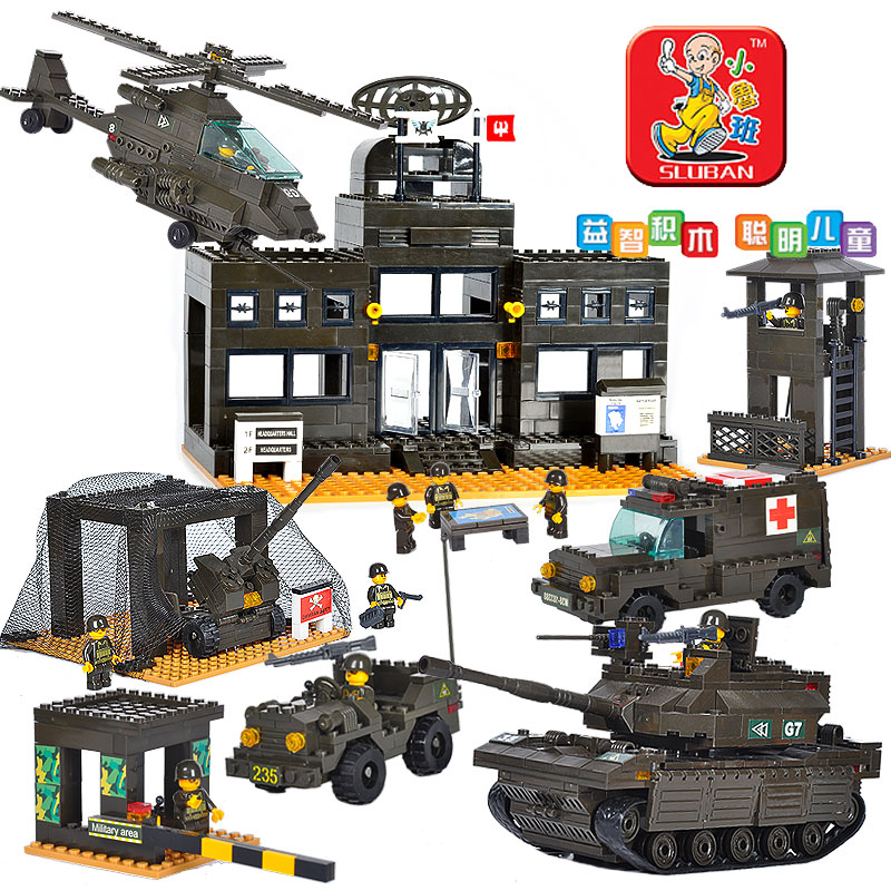 1086pcs legoland small luban blocks large assembled puzzle toy